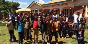 students cheering at vocational center