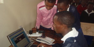 students using computer